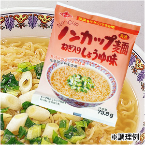 ノンカップ麺 ねぎ入りしょうゆ味らーめん